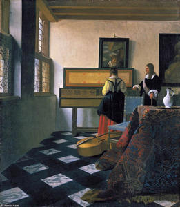 Jan Vermeer - The music lesson