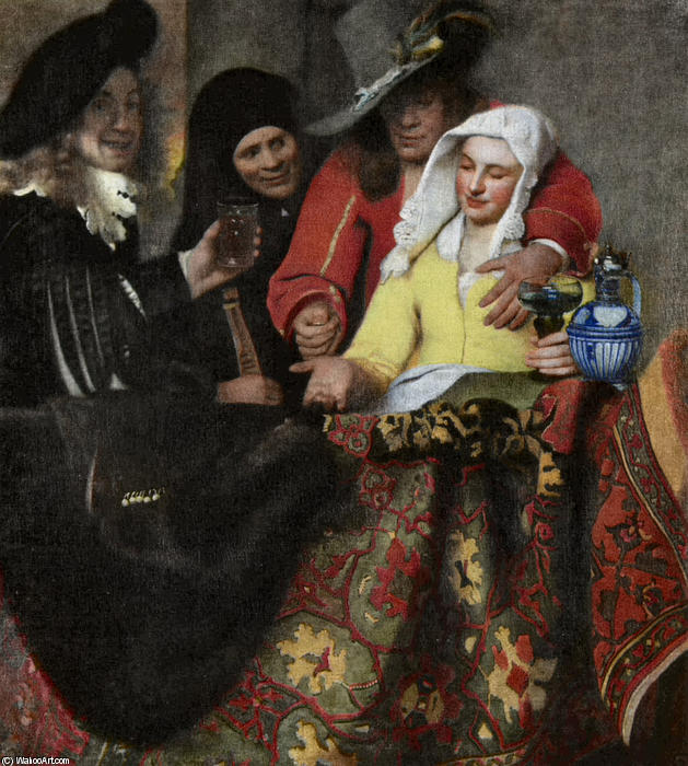 The Procuress, Oil On Canvas by Jan Vermeer (1632-1675, Netherlands)