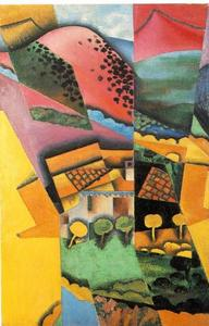 Juan Gris - Landscape at Ceret sunset