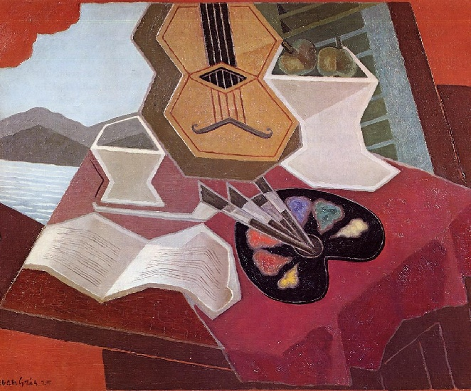 Table Overlooking the Sea, 1925 by Juan Gris (1887-1927, Spain) | Art Reproductions Juan Gris | WahooArt.com