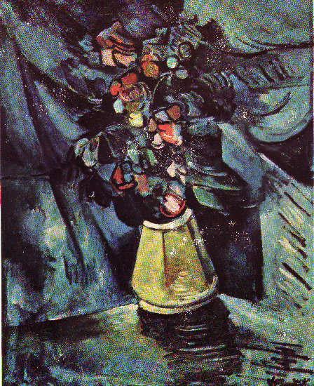 Vase of Flowers, 1916 by Maurice De Vlaminck (1876-1958, France) | Oil Painting | WahooArt.com
