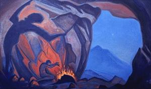 Order Paintings Reproductions | Conjurer by Nicholas Roerich (1874-1947, Russia) | WahooArt.com