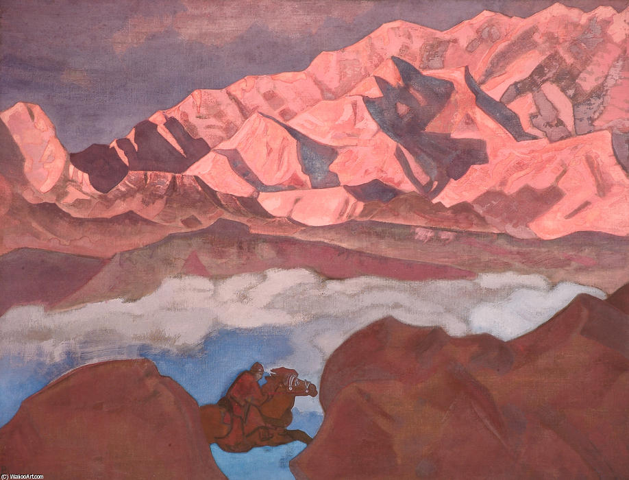 He who hastens, 1924 by Nicholas Roerich (1874-1947, Russia) | Art Reproductions Nicholas Roerich | WahooArt.com