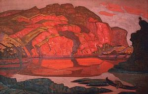 Nicholas Roerich - Hidden Treasure 1917