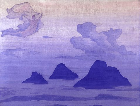 Higher Than the Mountains by Nicholas Roerich (1874-1947, Russia) | Art Reproductions Nicholas Roerich | WahooArt.com