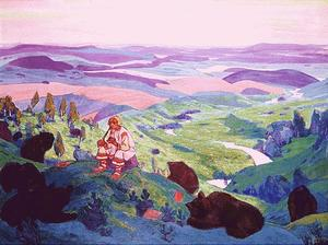 Nicholas Roerich - Human Forefathers