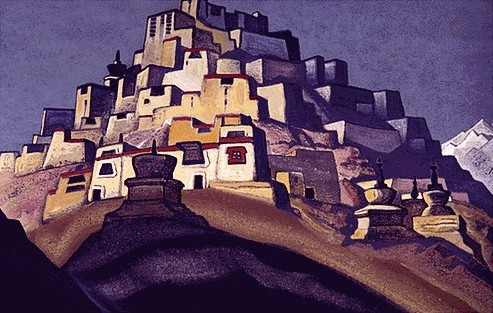 Island of Rest, 1937 by Nicholas Roerich (1874-1947, Russia) | Art Reproductions Nicholas Roerich | WahooArt.com