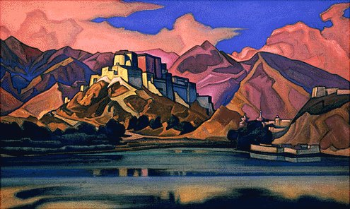 Lhassa by Nicholas Roerich (1874-1947, Russia) | Paintings Reproductions Nicholas Roerich | WahooArt.com