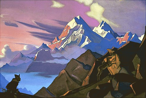 Mercy by Nicholas Roerich (1874-1947, Russia) | Paintings Reproductions Nicholas Roerich | WahooArt.com