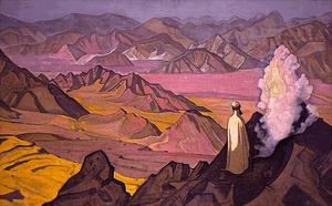 Nicholas Roerich - Mohammed on Mt Hira 1925
