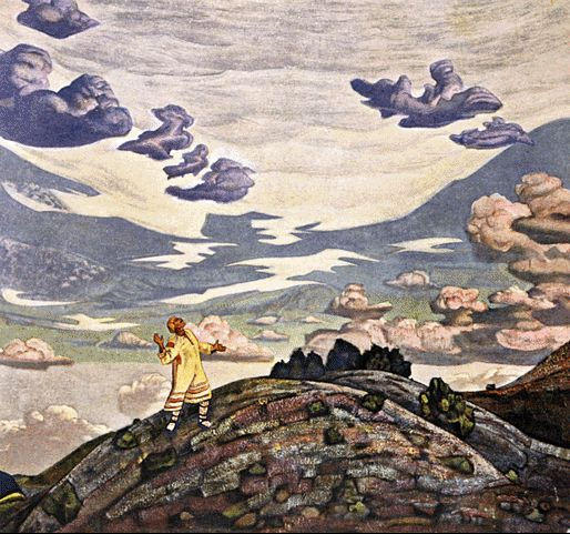 Sign, 1915 by Nicholas Roerich (1874-1947, Russia) | Museum Art Reproductions Nicholas Roerich | WahooArt.com
