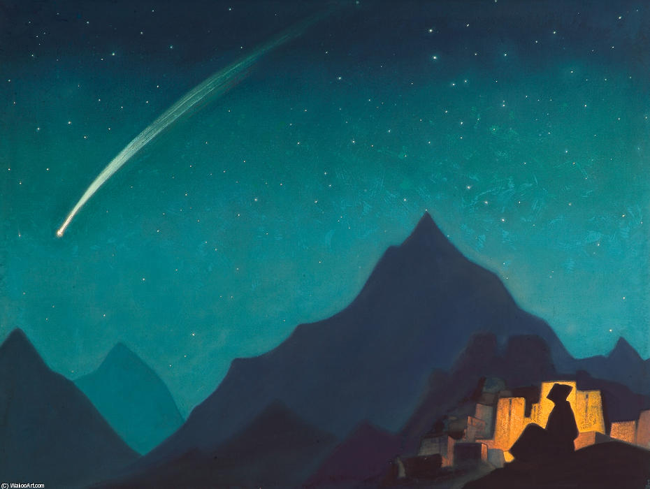 Star of the Hero, 1936 by Nicholas Roerich (1874-1947, Russia) | Museum Quality Copies Nicholas Roerich | WahooArt.com