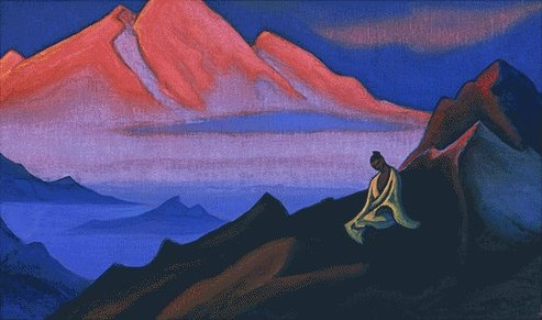 Thought, 1946 by Nicholas Roerich (1874-1947, Russia) | Museum Art Reproductions Nicholas Roerich | WahooArt.com