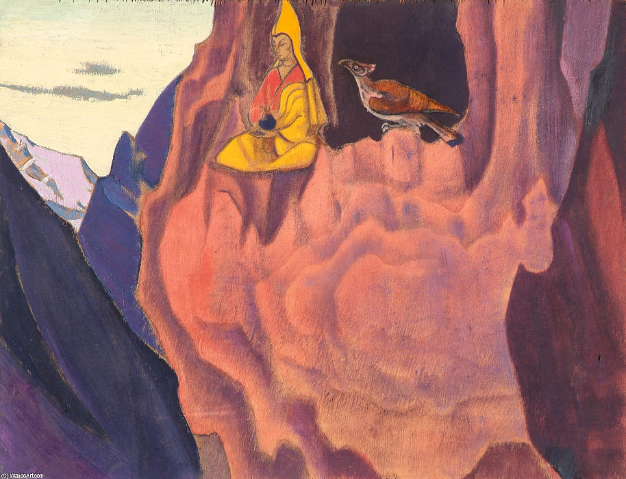 Tidings of the Eagle, 1927 by Nicholas Roerich (1874-1947, Russia) | Reproductions Nicholas Roerich | WahooArt.com