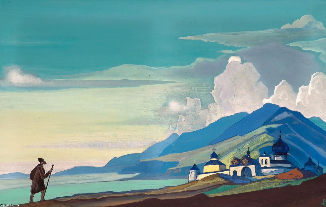 Wanderer from the Resplendent City, 1933 by Nicholas Roerich (1874-1947, Russia) | Reproductions Nicholas Roerich | WahooArt.com