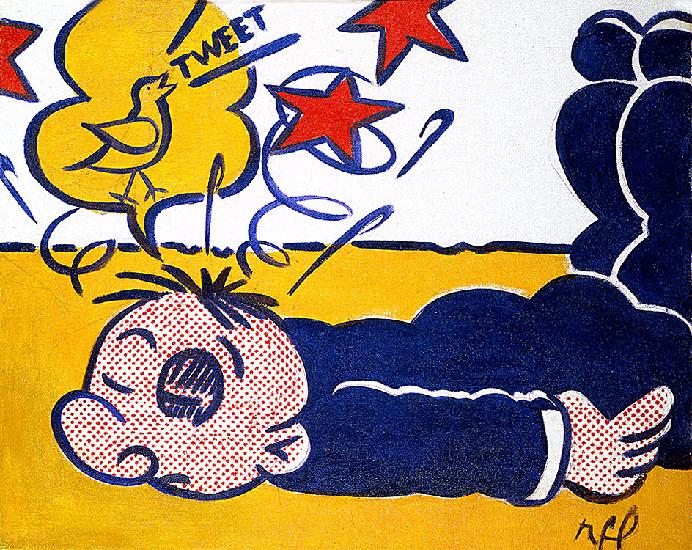 Wimpy tweet oil by roy lichtenstein 1923 1997 united - Pop art roy lichtenstein obras ...