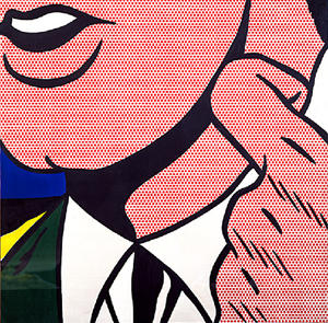 Roy Lichtenstein - Half Face with Collar