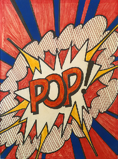 Pop, 1966 by Roy Lichtenstein (1923-1997, United States) |  | WahooArt.com