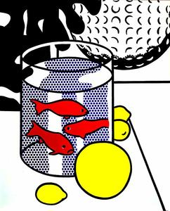 Roy Lichtenstein - Still Life with Goldfish (and Painting of Golf Ball)