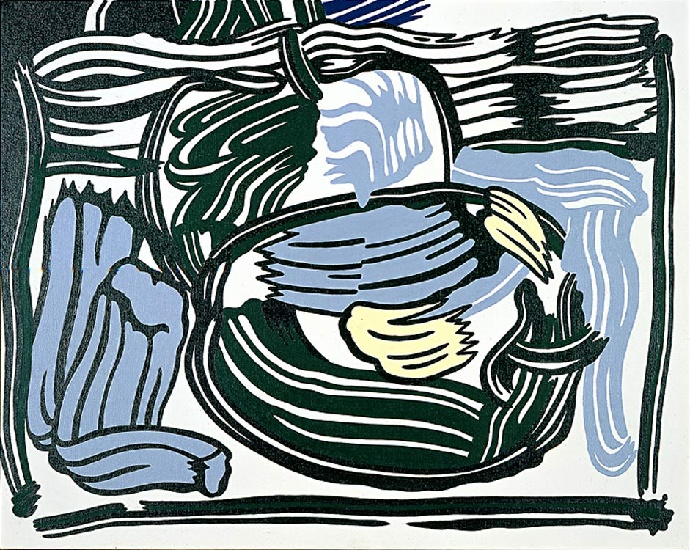 Two Green Apples, 1980 by Roy Lichtenstein (1923-1997, United States) |  | WahooArt.com