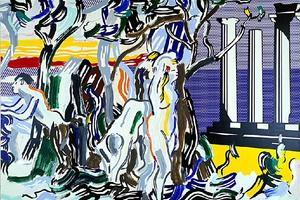 Roy Lichtenstein - Forest Scene with Temple