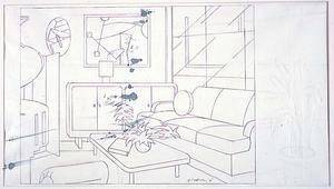 Roy Lichtenstein - Interior with Mobile Painting