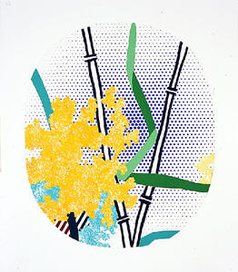 Roy Lichtenstein - Collage for Flower with Bamboo