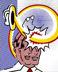 Roy Lichtenstein - Coup De Chapeau (Self Portrait)