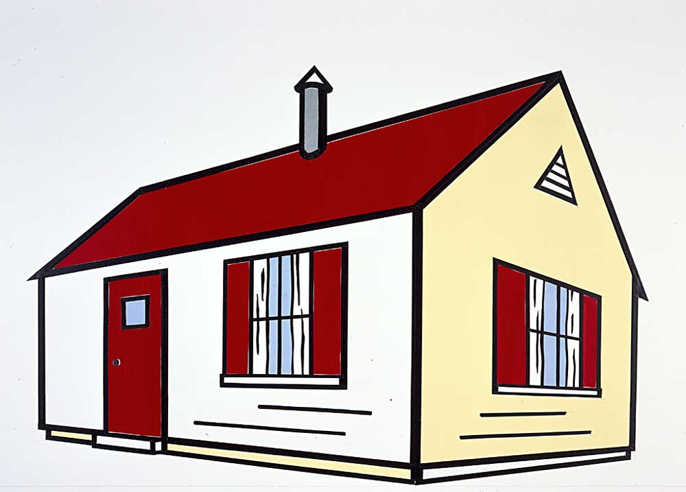 Collage for House II, Oil by Roy Lichtenstein (1923-1997, United States)