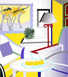 Roy Lichtenstein - Interior with Painting of Trees