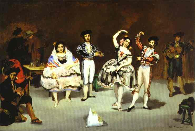 The spanish ballet, Oil On Canvas by Edouard Manet (1832-1883, France)