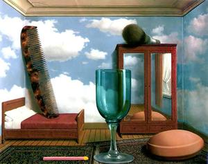 Rene Magritte - Personal values - (oil painting reproductions)