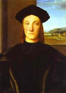 Portrait of Guidubaldo da Montefeltro, Oil by Raphael  (order Fine Art Print on canvas Raphael (Raffaello Sanzio Da Urbino))