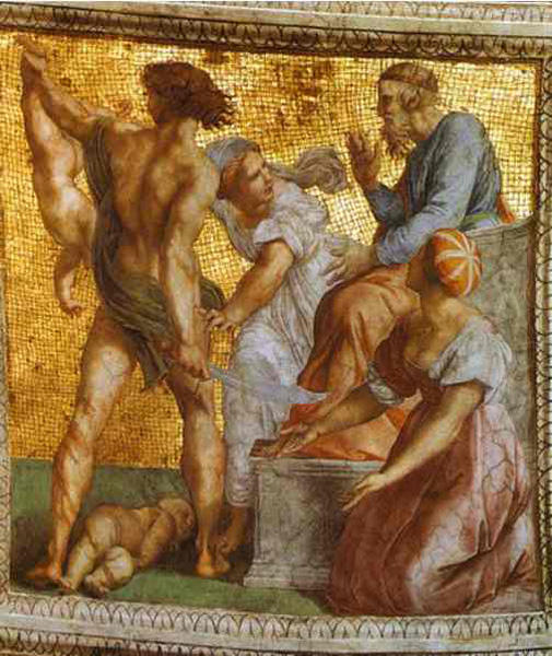 The Judgment of Solomon, Oil by Raphael  (order Fine Art Print on canvas Raphael (Raffaello Sanzio Da Urbino))