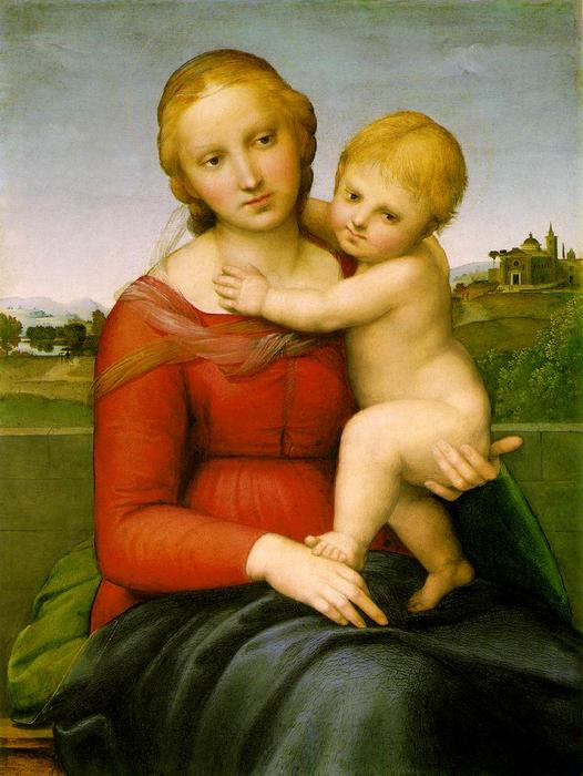 The Small Cowper Madonna, Oil by Raphael (Raffaello Sanzio Da Urbino) (1483-1520, Italy)