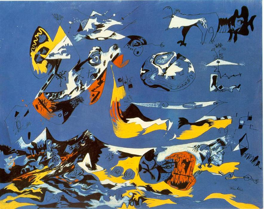 Blue (Moby Dick) by Jackson Pollock (1912-1956, United States) | Famous Paintings Reproductions | WahooArt.com