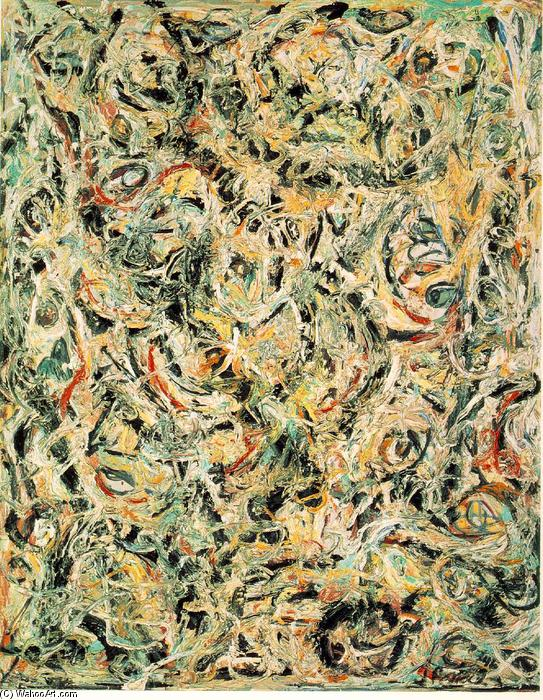 Eyes in the Heat, 1946 by Jackson Pollock (1912-1956, United States) | Painting Copy | WahooArt.com