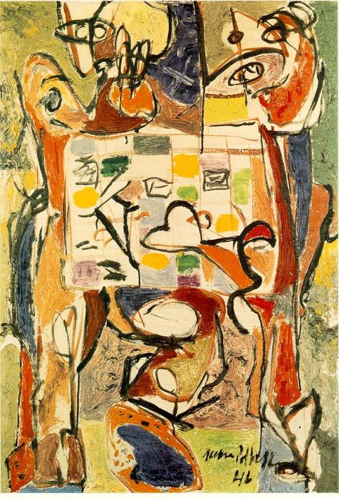 The Tea Cup, Oil On Canvas by Jackson Pollock (1912-1956, United States)