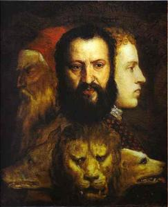 Tiziano Vecellio (Titian) - Allegory of Time Governed by Prudence