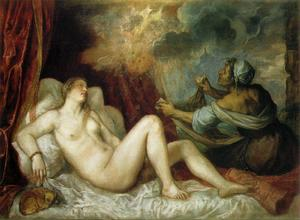 Tiziano Vecellio (Titian) - Danae and the Shower of Gold