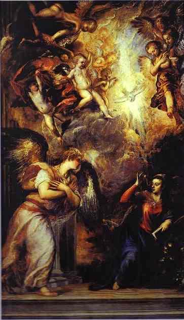 The Annunciation by Tiziano Vecellio (Titian) (1490-1576 ...