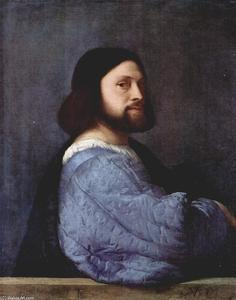 Tiziano Vecellio (Titian) - The man with a Blue Sleeve