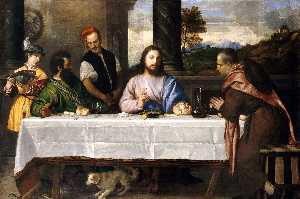 Tiziano Vecellio (Titian) - The Supper at Emmaus