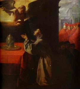 Francisco Zurbaran - St. Bonaventura at Pray