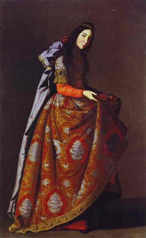 St. Casilda, Oil by Francisco Zurbaran (1598-1664, Spain)