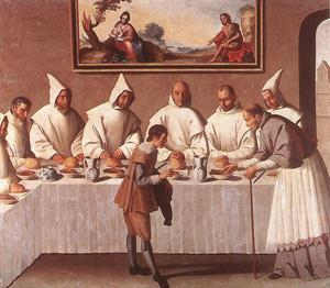 Francisco Zurbaran - St. Hugo of Grenoble in the Carthusian Refectory