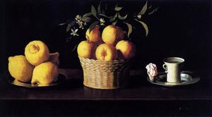 Francisco Zurbaran - Still Life with Lemons, Oranges and Rose