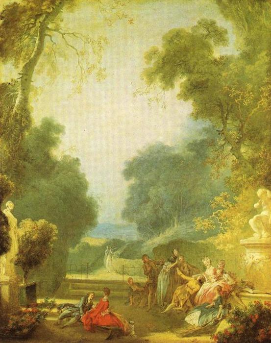 A Game of Hot Cockes by Jean-Honoré Fragonard (1732-1806, France) | Oil Painting | WahooArt.com