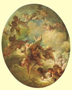 Jean-Honoré Fragonard - A Swarm of Cupids