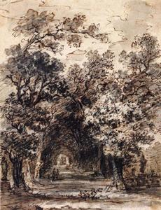 Jean-Honoré Fragonard - Avenue of Trees